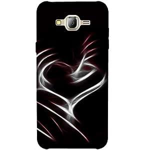 Casotec Heart Line Design 3D Printed Back Case Cover for Samsung Galaxy J2 (2016)