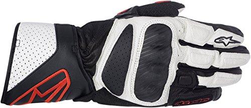 Alpinestars SP-8 Leather Gloves (X-LARGE) (BLACK/WHITE/RED)