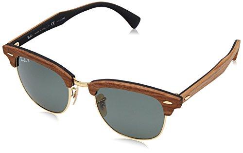 ray-ban-lunettes-de-soleil-pour-homme-rb3016m-clubmaster-wood-118158-walnut-wood-rubber-black