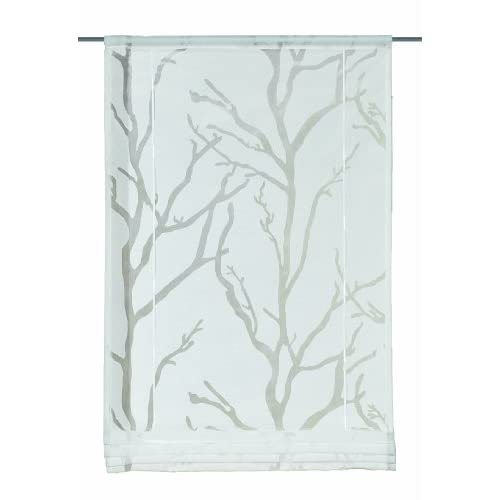Wohnprofi Iris Decorative Roller Blind Burn-Out White Opaque 140X80 CM white