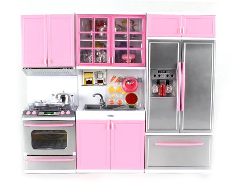My Modern Kitchen Oven Refrigerator Battery Operated Toy Doll