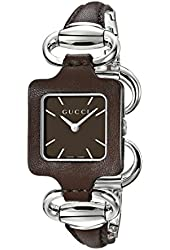 Gucci Women's YA130403 Gucci 1921 Brown Leather Bangle and Case Watch