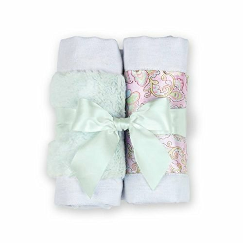 Bearington Bears Lil Hoots Paisley Baby Burp Cloth Set of 2 - 1