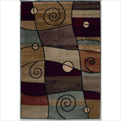 "Accents Percussion Ebony Contemporary Rug Size: 1'11"" x 3'1"" Rectangle"