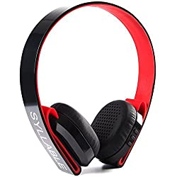 Syllable G600 Bluetooth 4.0 Wireless Headphone Adjustable Headset in Line Control Built in Mic Hifi Stereo for Ipnone6s 6 Smartphone and Other Devices (black),Black