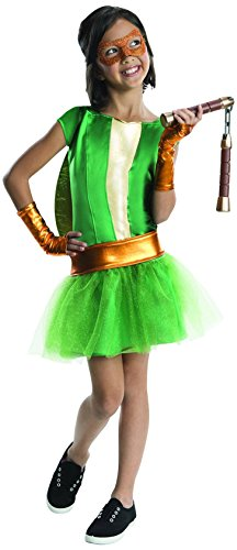 Rubies Teenage Mutant Ninja Turtles Deluxe Michelangelo Tutu Dress Costume, Child Small (Girls Ninja Turtle Costume compare prices)