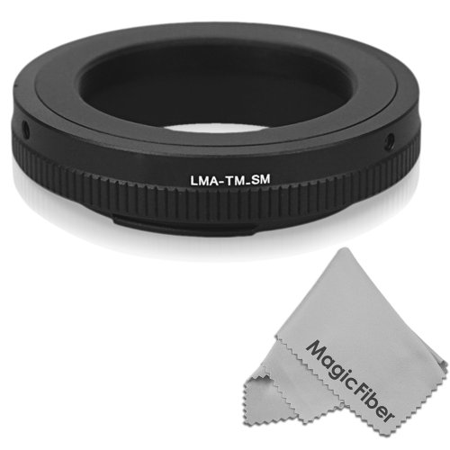 T Lens Mount Ring Adapter For Sony Alpha /Minolta Af Cameras Body + Magicfiber Microfiber Cleaning Cloth