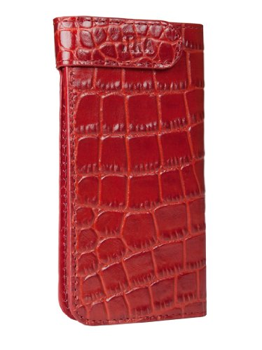 Special Sale Sena 826317 Hampton Wallet Leather Case for iPhone 5 & 5s - 1 Pack - Retail Packaging - Croco Red