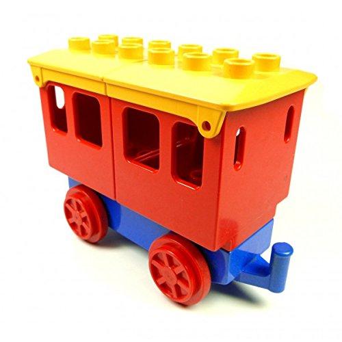 Lego Duplo Eisenbahn Anhänger blau Personen