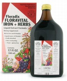 Floravital Iron & Herbs Yeast Free Flora Inc 17 oz Liquid (Floradix Iron 17 compare prices)