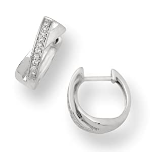 Miore - MG8012E - Boucles d'Oreilles Femme - Or blanc 750/1000 ( 18 carats) - Diamants - 0.11 cts