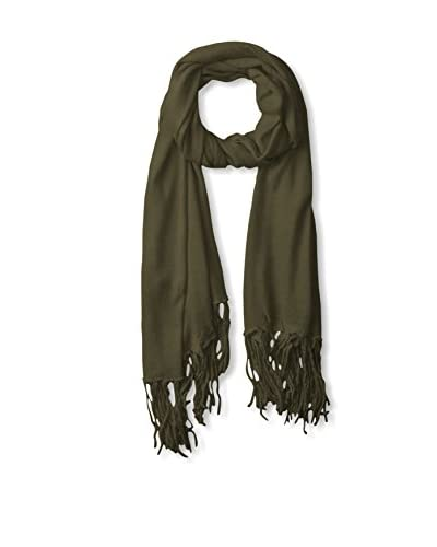 Pur Cashmere Women's Plain Scarf, Forest Green