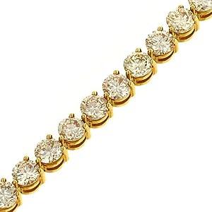 Ladies 30 Stone Round 3 prong Diamond Tennis Bracelet