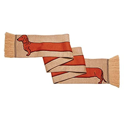 Women's Dachshund Extra Long Acrylic Knit Scarf