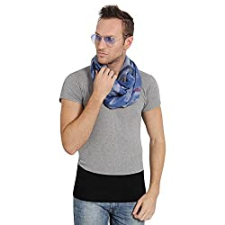 FabSeasons Gray Cotton Abstract Printed Scarf, Scarves, Stole and Shawl