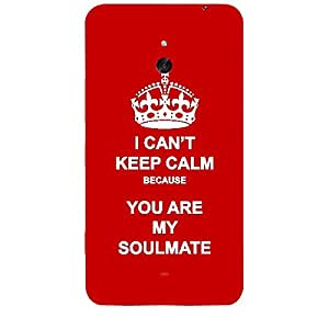 Skin4gadgets I CAN'T KEEP CALM BECAUSE YOU ARE MY SOULMATE - Colour - Red Phone Skin for NOKIA LUMIA 1320