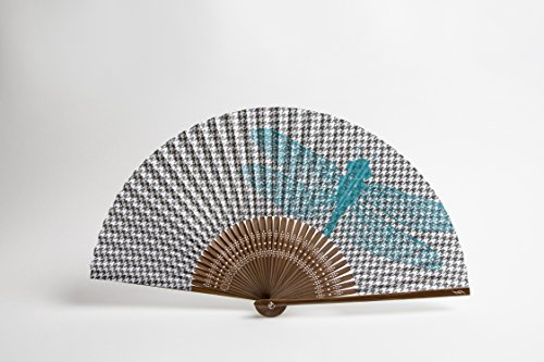 Fine & Folded Folding Hand Fan - Dogstooth & Dragonfly - Hot People Need Cool Fans
