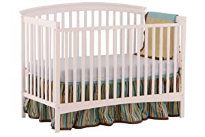 Stork Craft Bradford Fixed Side Convertible Crib, White (Discontinued by Manufacturer)