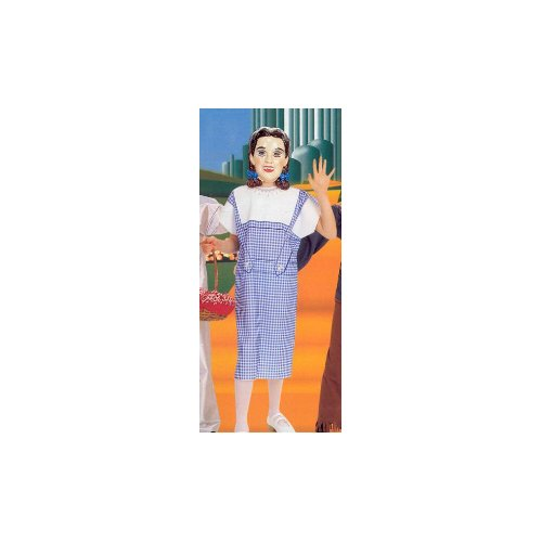 Wizard of Oz - Dorothy with PVC Mask Child Halloween Costume Size 12-14 Large