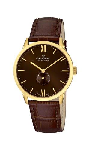 Candino C4471/3 - Reloj analógico de cuarzo para hombre con correa de piel, color marrón