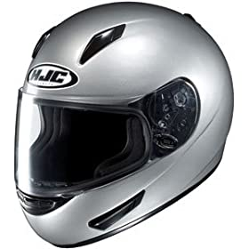 HJC Full Face Motorcycle Helmet CL-15 Silver - Size : XL