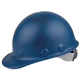 Fibre-Metal P2A Hard Hat with 8-Point Ratchet Suspension, Injection Molded Fiberglass, Blue