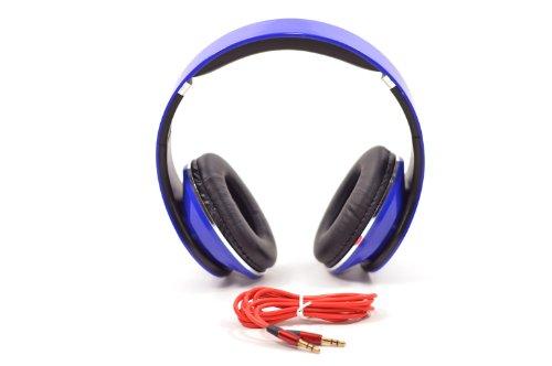 Blue Adjustable 3.5Mm Jack Input Over The Ear Floterea Headphone Ipod Mp3