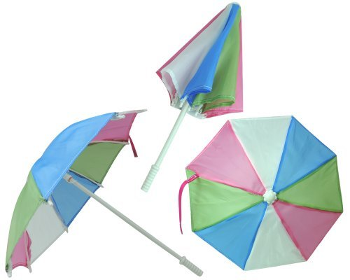 Multi Colored Doll Sized Umbrella Perfect for 18 Inch American Girl Dolls & More!