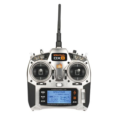 DX8 8CH Transmitter with AR8000/TM1000: No Servos