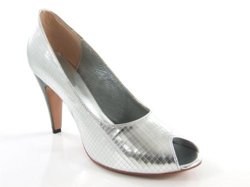 silver evening pumps. Cheap Price Metallic Silver