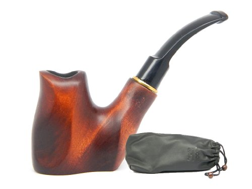 "Tobacco Smoking Pipe "" VOLCANO "" Free Standing, Pear wood, Hand finished, Great Collectible + Gift POUCH"