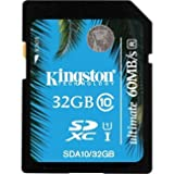 Kingston Digital 32GB SDHC Class 10 UHS-I Flash Card (SDA10/32GB)
