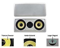 Acoustic Audio HD-6c Dual 6.5-Inch Kevlar Center Channel Speaker (White)