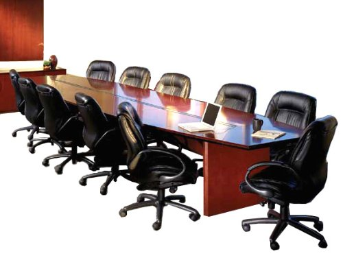 Quick Ship Wood Conference Tables From 6' to 30' in 2 Finishes!