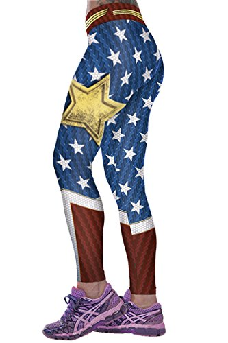 Women's Stars Printed Footless Elastic Sexy Tights Leggings Pants One Size