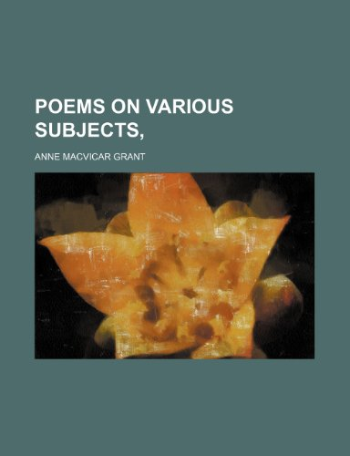 Poems on various subjects,