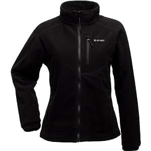 Hi-Tec Women's Fire Island Fleece Fleece Jacket, Black, Large