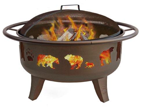 Landmann-23875-Fire-Dance-Bear-and-Paw-Fire-Pit-30-Inch-Metallic-Brown