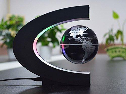 Senders floating globe with led lights c shape magnetic levitation quantity gumiabroncs Images