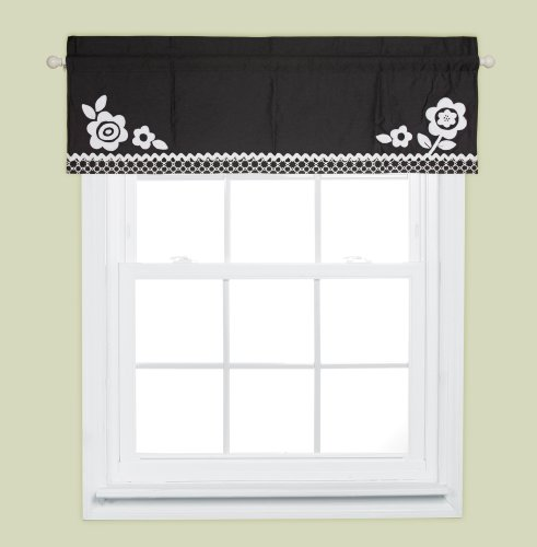 Bananafish Zia Window Valance, Black/White (Discontinued by Manufacturer)