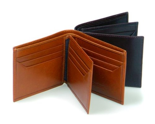 Sage Brown Genuine Leather Billfold With 9 CC & 1 ID