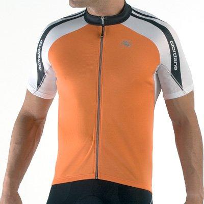 Giordana 2008 Silverline Short Sleeve Cycling Jersey - Orange - (GI-SSJY-SILV-ORAN)