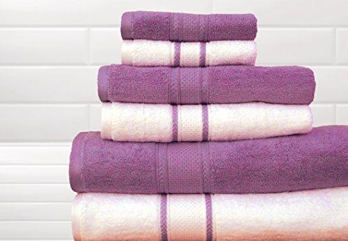 Quick Dry 100% Egyptian Cotton Colormate Towel Set (Lavender)