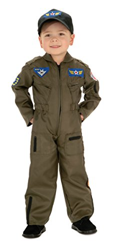 Boys Air Force Fighter Pilot Kids Child Fancy Dress Party Halloween Costume