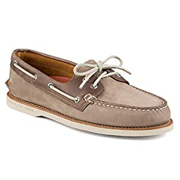 New Sperry Men\'s Gold Cup A/O Boat Shoe Taupe/Brown Nubuck 9