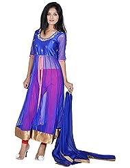 Tehzeeb Women's Faux Georgette Anarkali Salwar Suit - B016BH6ZBS