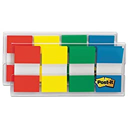 Post-it Flags Flags in Portable Dispenser, Assorted, 160 Flags/Dispenser