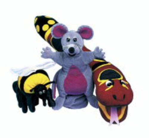 Jolly Phonics Puppets, Set of All 3 (Mouse/Snake/Bee)