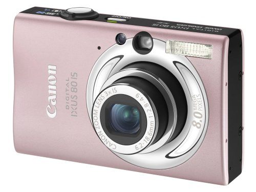 "Canon Digital IXUS 80 IS Camera - Pink (8.0MP, 3x Optical Zoom) 2.5"" LCD"
