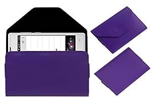 Acm Premium Pouch Case For Lava A59 Flip Flap Cover Purple